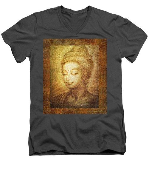 Golden Buddha Men's V-Neck T-Shirt