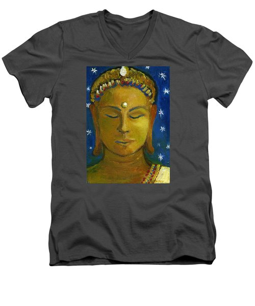 Golden Buddha Men's V-Neck T-Shirt
