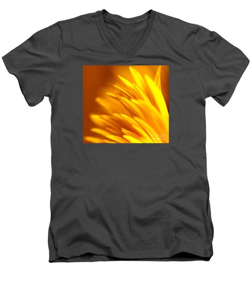 Golden Dahlia Men's V-Neck T-Shirt