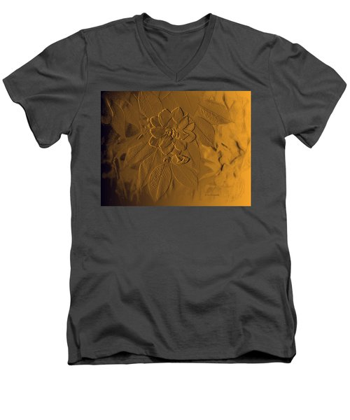Golden Effulgence Men's V-Neck T-Shirt by Jeanette C Landstrom