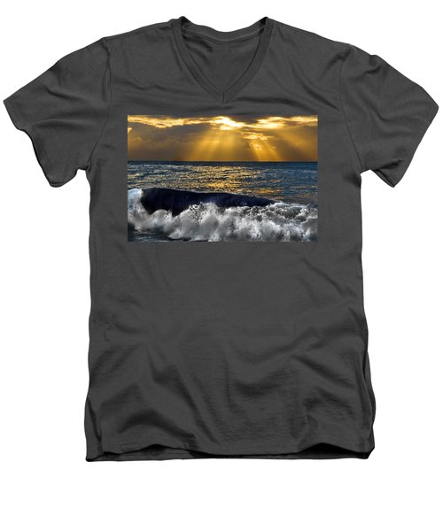 Golden Eye Of The Morning Men's V-Neck T-Shirt