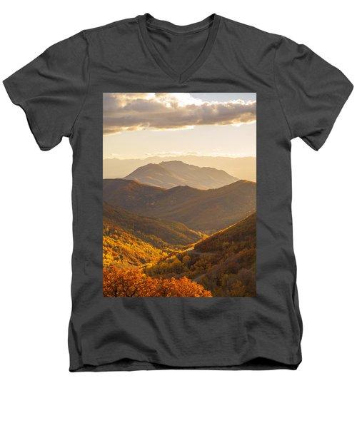 Golden Fall Men's V-Neck T-Shirt