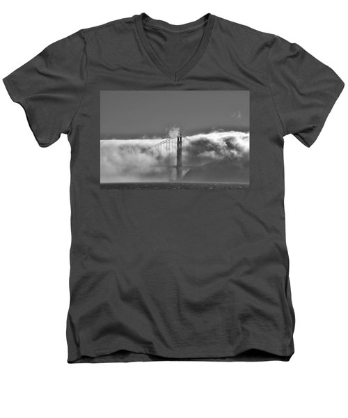 Golden Gate Fog Men's V-Neck T-Shirt