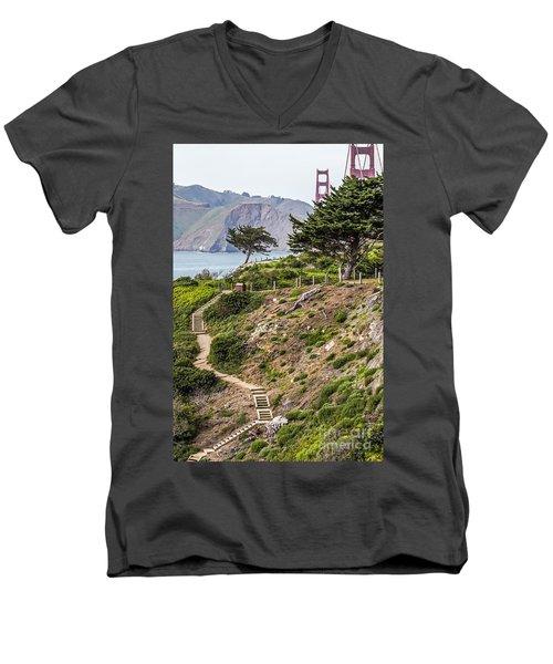 Golden Gate Trail Men's V-Neck T-Shirt