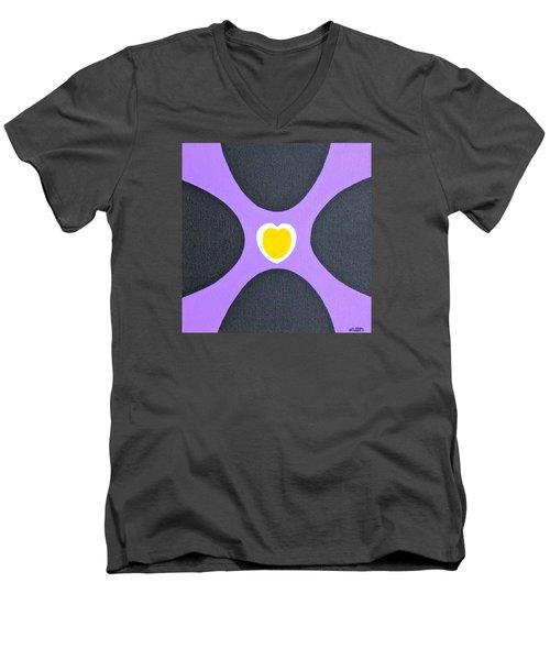 Golden Heart Men's V-Neck T-Shirt
