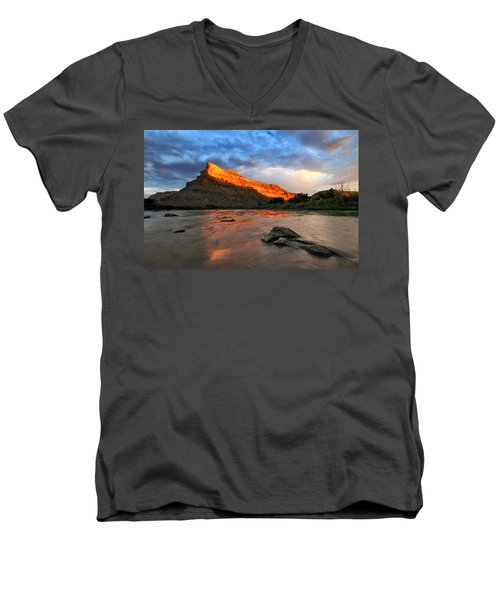 Men's V-Neck T-Shirt featuring the photograph Golden Highlights by Ronda Kimbrow