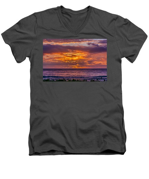 Golden Morning Men's V-Neck T-Shirt