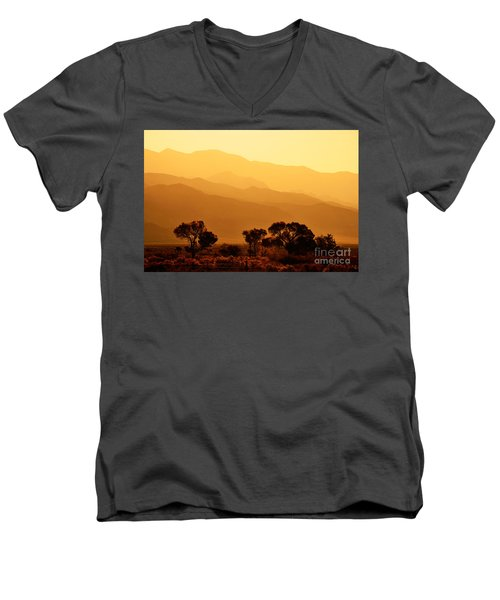 Golden Mountain Light Men's V-Neck T-Shirt