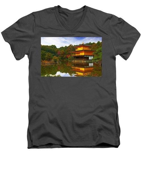 Golden Pavilion Men's V-Neck T-Shirt