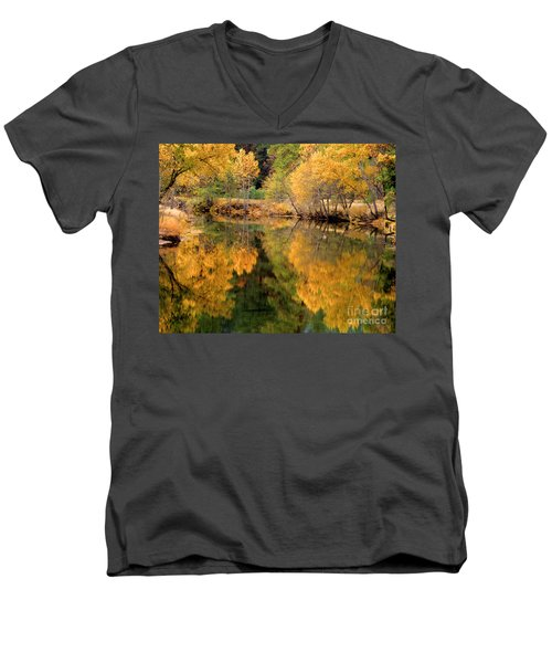 Golden Reflections Men's V-Neck T-Shirt