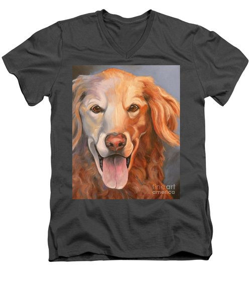 Golden Retriever Till There Was You Men's V-Neck T-Shirt