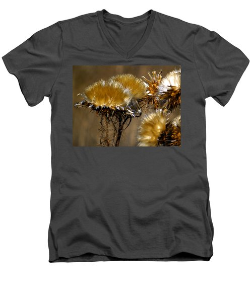 Golden Thistle Men's V-Neck T-Shirt by Bill Gallagher
