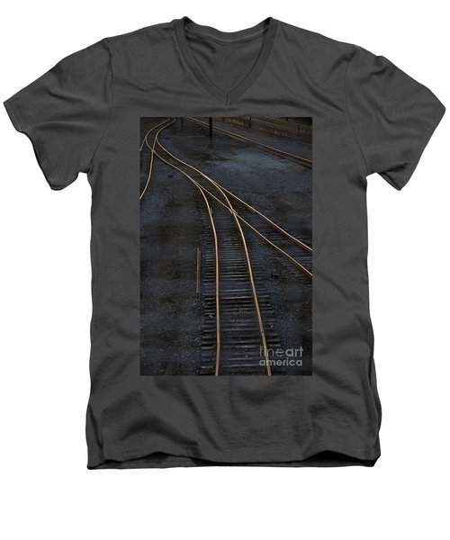 Golden Tracks Men's V-Neck T-Shirt