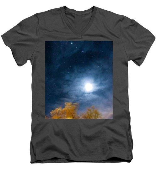 Golden Tree  Men's V-Neck T-Shirt by Angela J Wright
