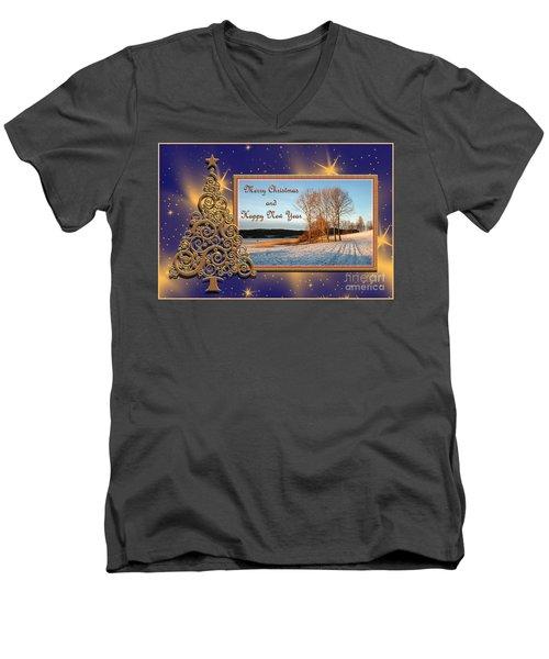 Golden Tree Men's V-Neck T-Shirt