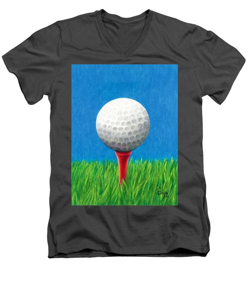 Golf Ball And Tee Men's V-Neck T-Shirt