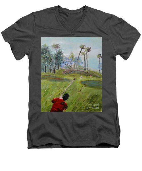 Golfing At Monarch Men's V-Neck T-Shirt