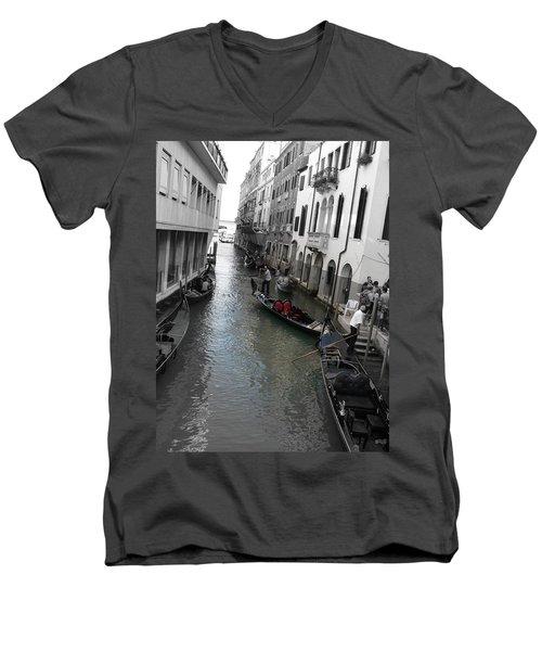 Gondolier Men's V-Neck T-Shirt by Laurel Best
