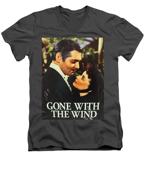 Gone With The Wind Men's V-Neck T-Shirt by Natalie Ortiz