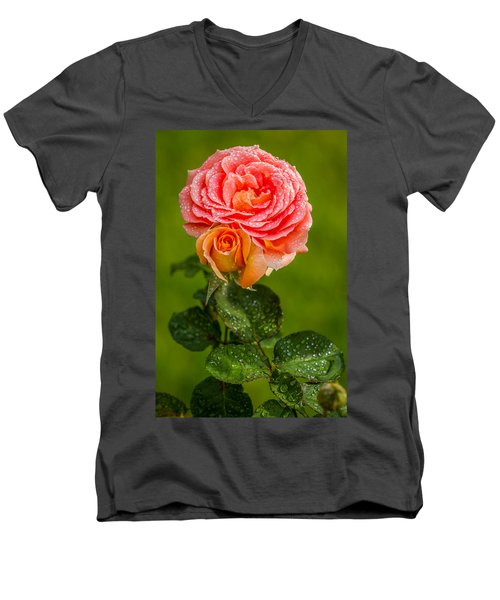 Good Morning Beautiful Men's V-Neck T-Shirt by Ken Stanback
