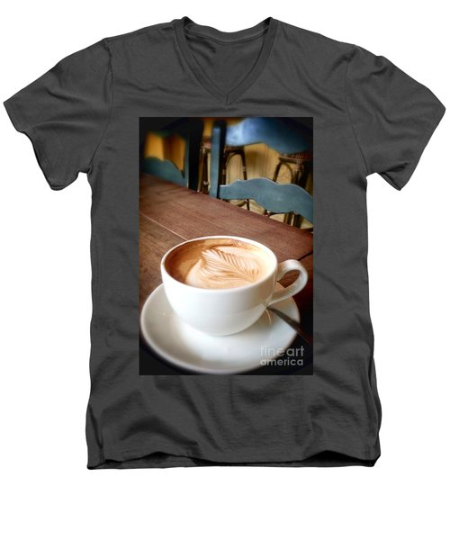 Good Morning Latte Men's V-Neck T-Shirt