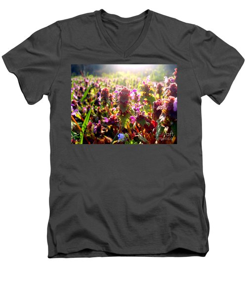 Men's V-Neck T-Shirt featuring the photograph Good Morning by Nina Ficur Feenan