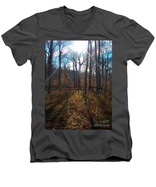 Men's V-Neck T-Shirt featuring the photograph Good Morning by Pamela Clements
