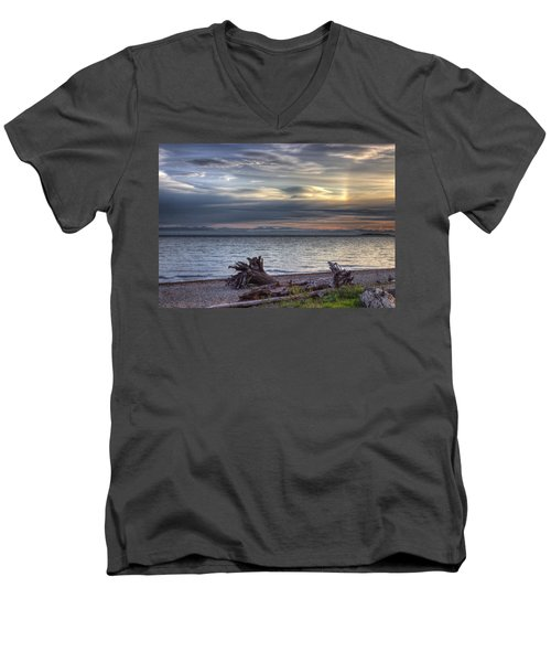 San Pareil Sunrise Men's V-Neck T-Shirt