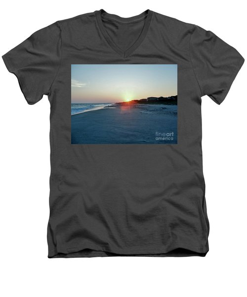 Men's V-Neck T-Shirt featuring the photograph Good Night Day by Roberta Byram