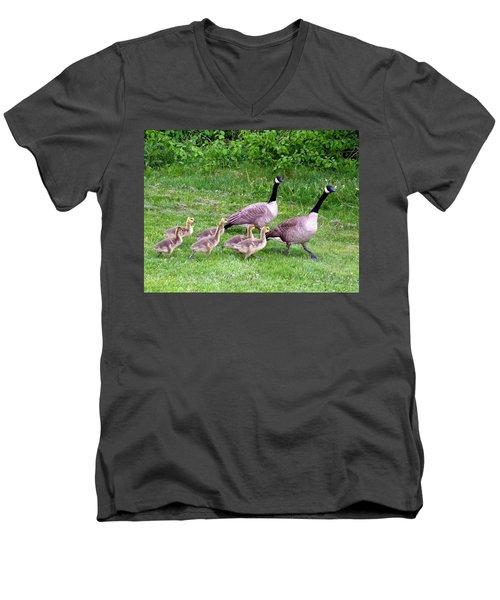 Goose Step Men's V-Neck T-Shirt by Will Borden
