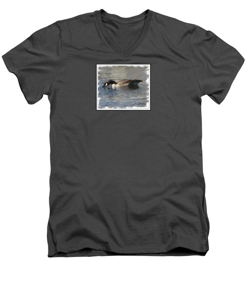 Goosey Lucy Painting Men's V-Neck T-Shirt by Bobbee Rickard