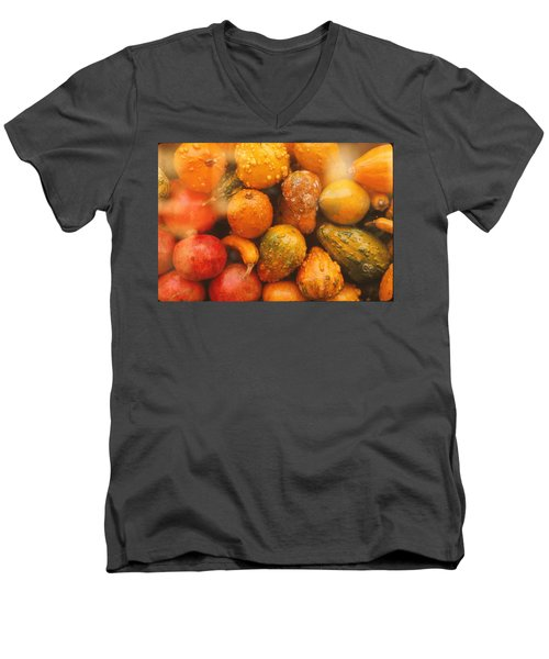 Men's V-Neck T-Shirt featuring the photograph Gorgeous Gourds by Ira Shander