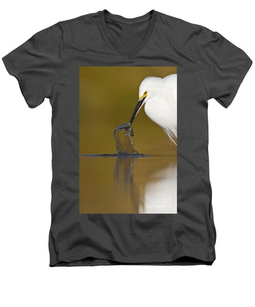Men's V-Neck T-Shirt featuring the photograph Gotcha by Bryan Keil