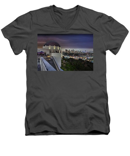 Gotham Griffith Observatory Men's V-Neck T-Shirt