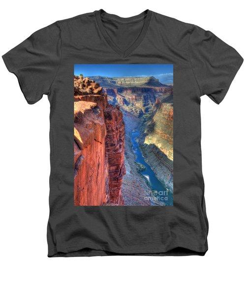 Grand Canyon Awe Inspiring Men's V-Neck T-Shirt by Bob Christopher