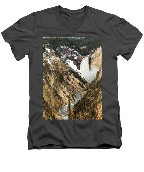 Grand Canyon Of The Yellowstone Men's V-Neck T-Shirt