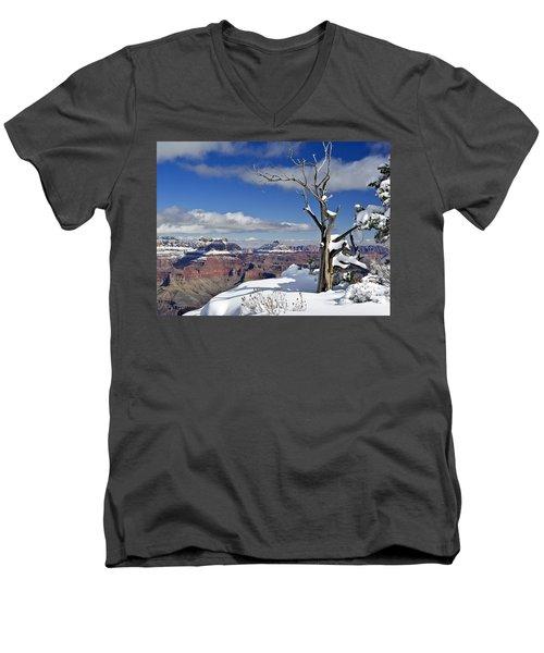 Grand Canyon Winter -2 Men's V-Neck T-Shirt