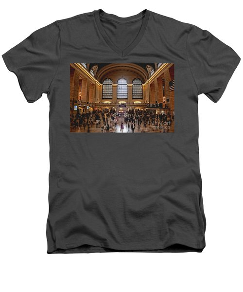 Grand Central Men's V-Neck T-Shirt