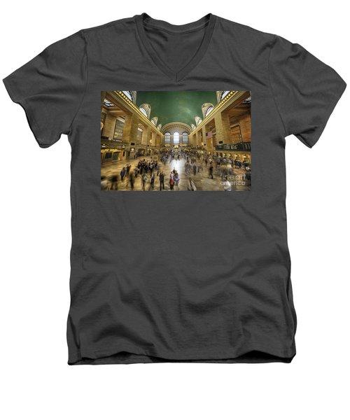 Grand Central Rush Men's V-Neck T-Shirt