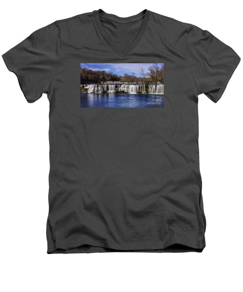 Grand Falls In Joplin Missouri Men's V-Neck T-Shirt