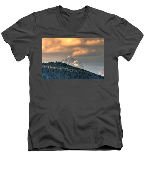 Grand Morning Men's V-Neck T-Shirt by David Andersen