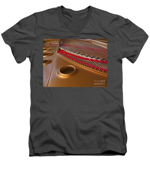 Grand Piano Men's V-Neck T-Shirt by Ann Horn