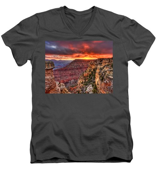 Grand Sunrise Men's V-Neck T-Shirt