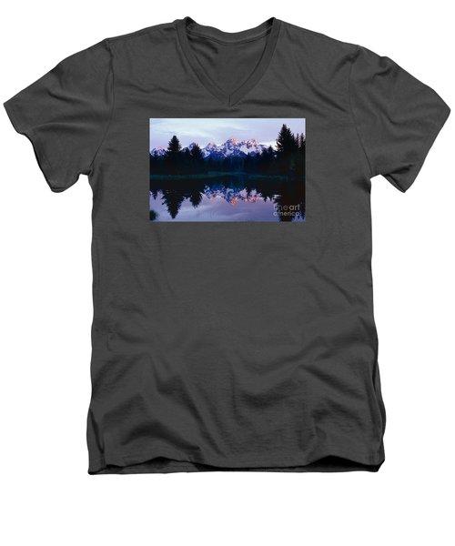 Grand Teton Reflex Men's V-Neck T-Shirt