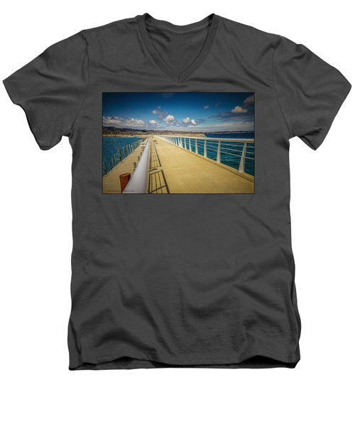 Grand Traverse Bay Men's V-Neck T-Shirt