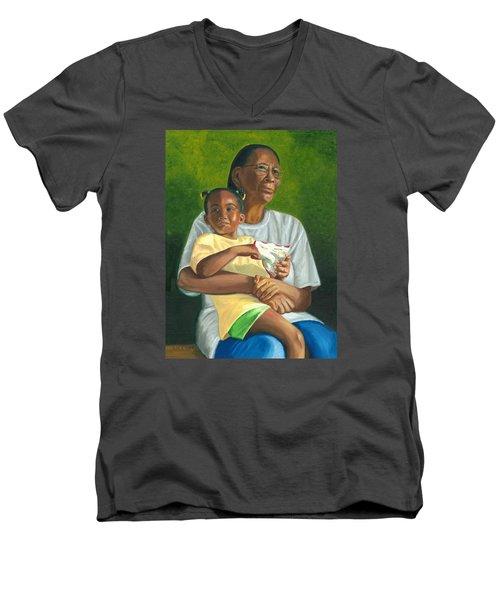Grandma's Lap Men's V-Neck T-Shirt