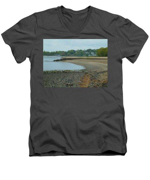 Granular Solitude Men's V-Neck T-Shirt