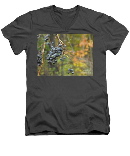 Grapes Left Men's V-Neck T-Shirt