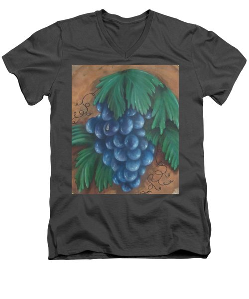Grapes With Dewdrop Men's V-Neck T-Shirt