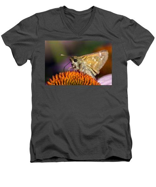 Grass Skipper Feeding Men's V-Neck T-Shirt